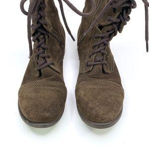 Steve Madden Shoes - Steve Madden Troopa Green Suede Combat Boot
